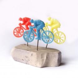 Épinglette vintage cycliste