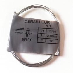 Câble de dérailleur 2.50m...