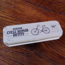 Nécessaire de réparation vélo boite métal