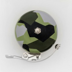 Sonnette rétro camouflage vert