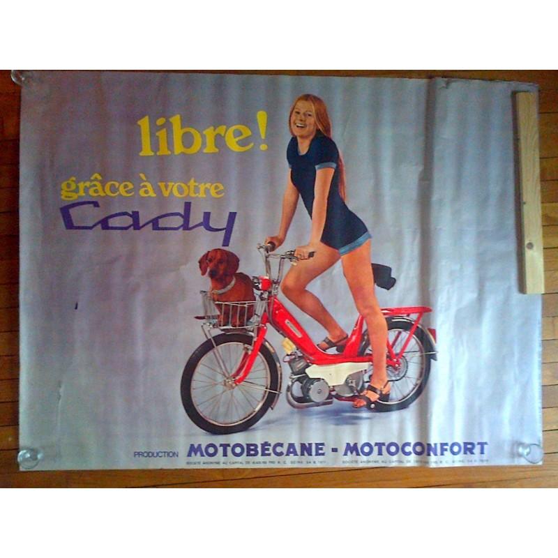Affiche publicitaire de cyclomoteur Cady