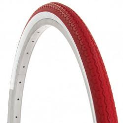 2 pneus rouge et blanc 700x35C