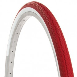 Two 28x1.5/8 TIRES WHITE/RED