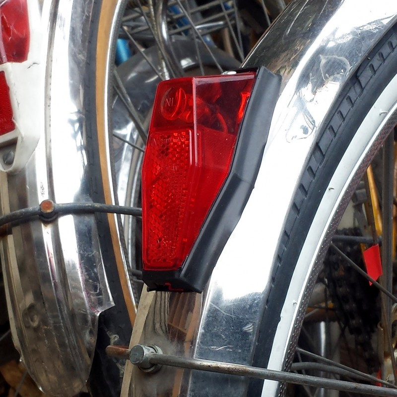 Éclairage arrière vélo vintage