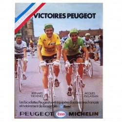 Affiche de la Victoire Peugeot Tour de France 1977