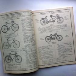 Catalogue ancien pour cycles
