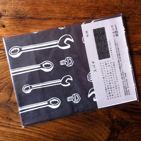 Foulard japonais motif Outils.